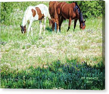 Canvas Print featuring the digital art Jack Smokey And Camelot Painted by Robert Rhoads