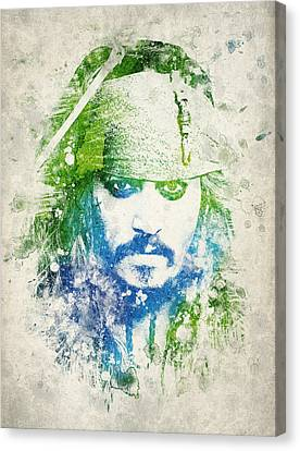 Jack Sparrow Canvas Print by Aged Pixel