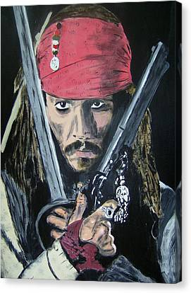 Jack Sparrow Johnny Depp Canvas Print by Dan Twyman
