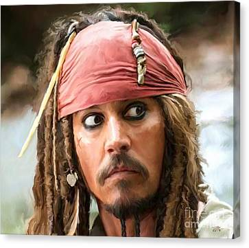 Jack Sparrow Canvas Print by Paul Tagliamonte