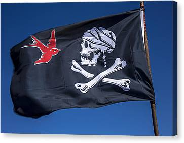 Sail Cloth Canvas Print - Jack Sparrow Pirate Skull Flag by Garry Gay