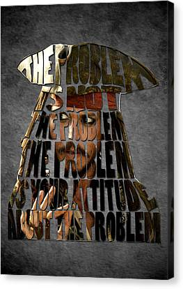 Jack Sparrow Quote Portrait Typography Artwork Canvas Print by Georgeta Blanaru