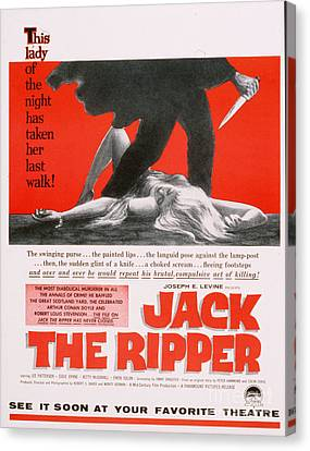Jack The Ripper 1959 1950s Usa Canvas Print by The Advertising Archives