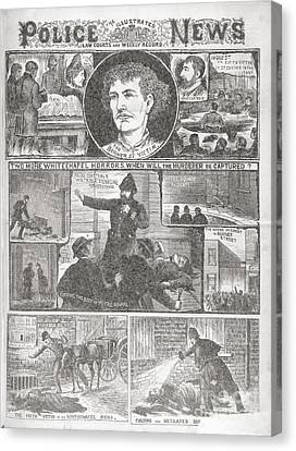 Jack The Ripper Murders, 1888 Canvas Print by British Library