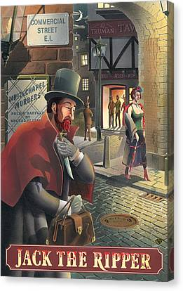 Jack The Ripper Canvas Print by Peter Green