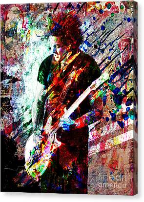 Jack White Original Painting Print Canvas Print by Ryan Rock Artist