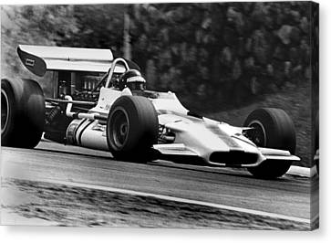 Canadian Grand Prix Canvas Print - Jackie Oliver Brm by Mike Flynn