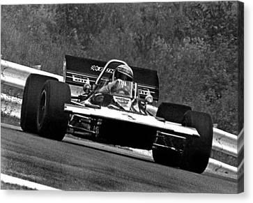 Canadian Grand Prix Canvas Print - Jackie Stewart Tyrrell by Mike Flynn