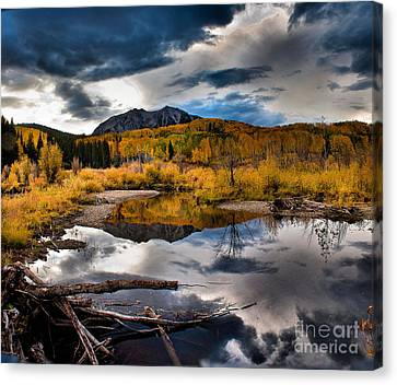 Canvas Print featuring the photograph Jack's Pond by Steven Reed