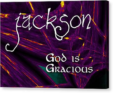 Jackson - God Is Gracious Canvas Print by Christopher Gaston