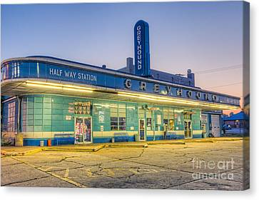 Old Bus Stations Canvas Print - Jackson Greyhound Bus Station I by Clarence Holmes