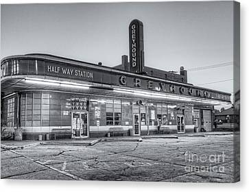 Old Bus Stations Canvas Print - Jackson Greyhound Bus Station II by Clarence Holmes