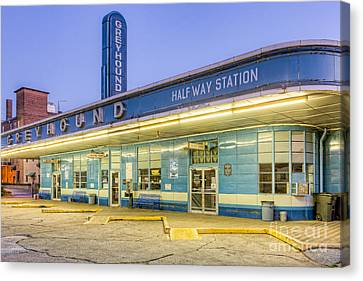 Old Bus Stations Canvas Print - Jackson Greyhound Bus Station IIi by Clarence Holmes