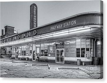 Old Bus Stations Canvas Print - Jackson Greyhound Bus Station Iv by Clarence Holmes
