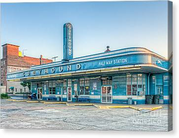 Old Bus Stations Canvas Print - Jackson Greyhound Bus Station V by Clarence Holmes