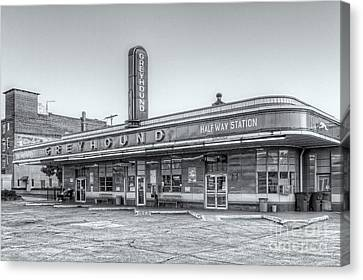Old Bus Stations Canvas Print - Jackson Greyhound Bus Station Vi by Clarence Holmes