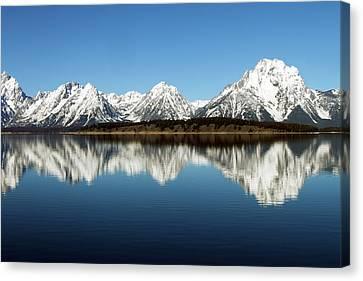 Jackson Lake Canvas Print by David Yunker