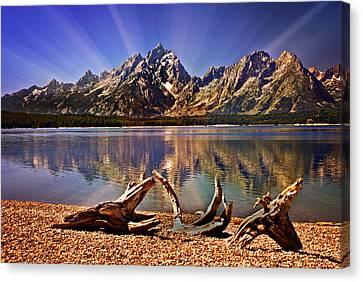 Jackson Lake Mt. Moran Canvas Print by Marty Koch