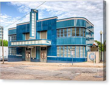 Old Bus Stations Canvas Print - Jackson Mississippi Greyhound Bus Station I by Clarence Holmes