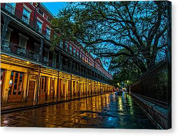 Jackson Square At Dawn Canvas Print by Andy Crawford