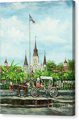 Jackson Square Carriage Canvas Print by Dianne Parks