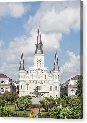 St.louis Cathedral Canvas Print - Jackson Square Cathedral by Kay Pickens