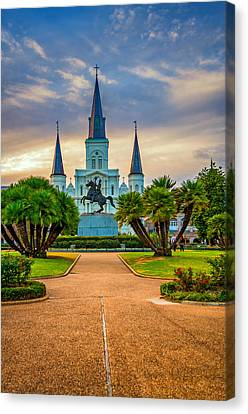 Jackson Square Cathedral Canvas Print by Steve Harrington