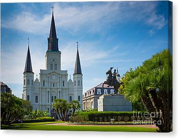 Jackson Square Canvas Print by Inge Johnsson