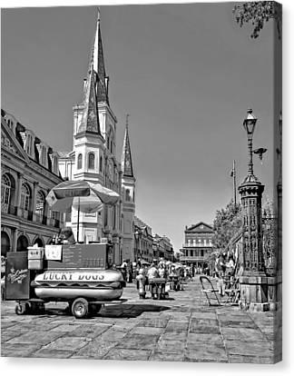 Jackson Square Monochrome Canvas Print by Steve Harrington