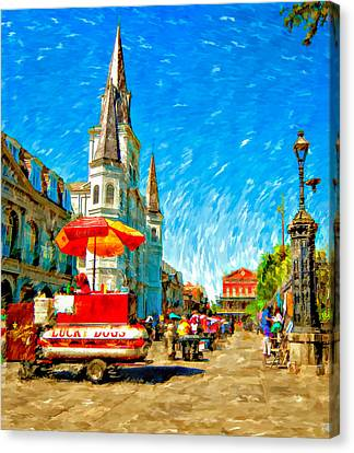 Jackson Square Painted Version Canvas Print by Steve Harrington