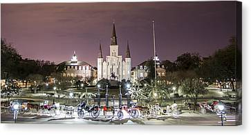 Jackson Square Panoramic  Canvas Print