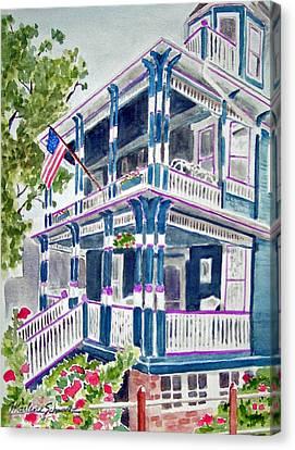 Jackson Street Inn Of Cape May Canvas Print