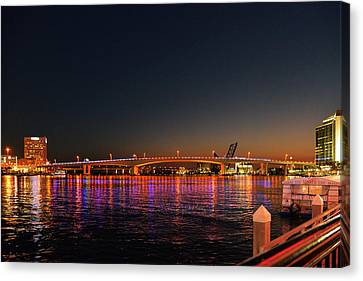 Jacksonville Acosta Bridge Canvas Print by Christine Till