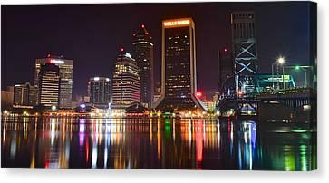 Jacksonville Aglow Canvas Print