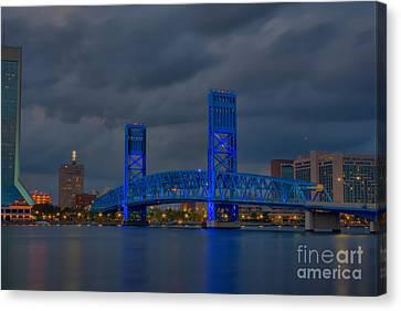 Jacksonville Blue Bridge Hdr Canvas Print