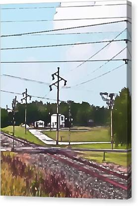 Jacksonville Il Rail Crossing 3 Canvas Print by Jeff Iverson