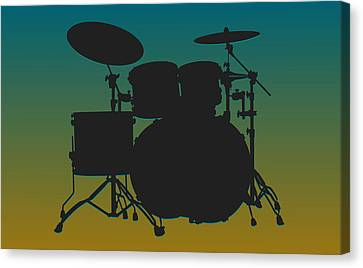 Jacksonville Jaguars Drum Set Canvas Print by Joe Hamilton