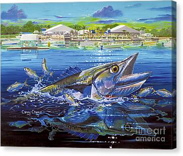 Jacksonville Kingfish Off0088 Canvas Print by Carey Chen