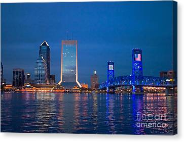 Jacksonville Nightscape Canvas Print