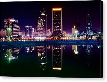 Jacksonville Reflects Canvas Print
