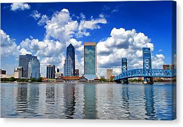 Jacksonville Skyline Canvas Print by Mountain Dreams
