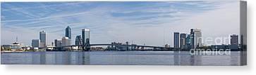 Jacksonville Skyline Panoramic Canvas Print