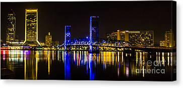 Canvas Print featuring the photograph Jacksonville Skyline by Paula Porterfield-Izzo