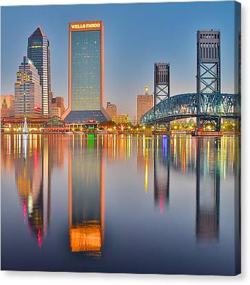 Jacksonville Squared Canvas Print by Frozen in Time Fine Art Photography