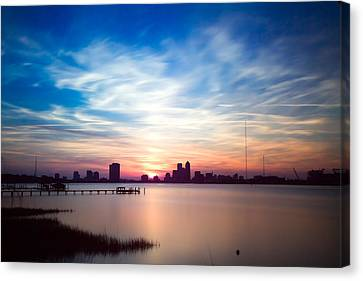 Jacksonville Sunset In May 2014 Canvas Print by Jeff Turpin