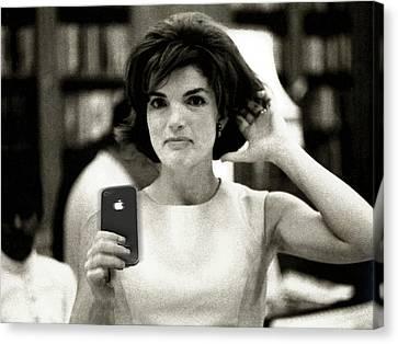 Jacky Kennedy Takes A Selfie Canvas Print