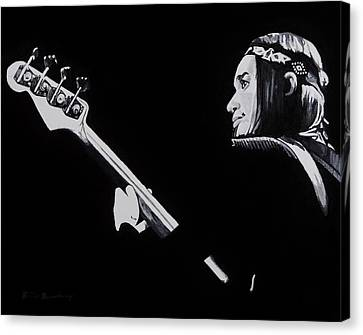 Weathered Canvas Print - Jaco by Brian Broadway