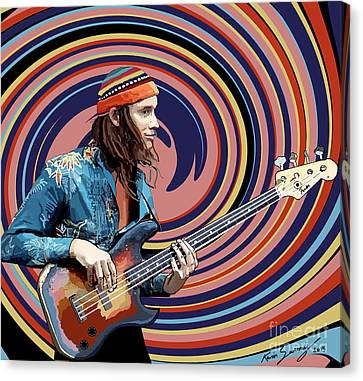 Jaco Pastorius Canvas Print by Kevin Sweeney