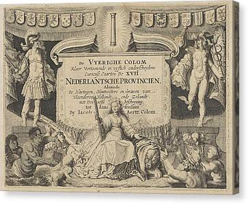 Jacob Aertz Colom, De Vyerighe Colom, Klaer Vertoonende De Canvas Print
