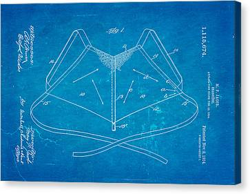 Quilter Canvas Print - Jacob Brassiere Patent Art 1914 Blueprint by Ian Monk